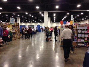 It's fun to check out books and materials in person at a homeschooli convention.
