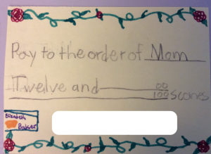 I can't bring myself to cash in some of these gift coupons my daughter gave me, as sweet as her excellent scones.