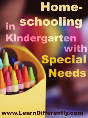 Homeschool in Kindergarten with Special Needs