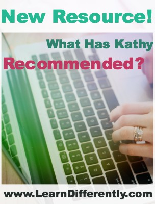 New Resource: What Has Kathy Recommended?