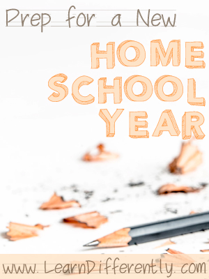 Prep for a New Homeschool Year