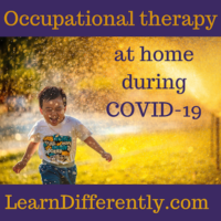 Occupational therapy helps kids with many skills, including managing sensitivities