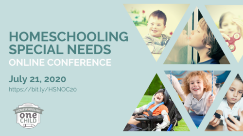 Homeschooling Special Needs Online Conference starting July 21