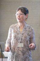 Kathy Kuhl speaking to parents