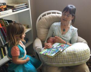 Kathy visiting family.