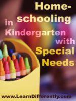 Homeschool in Kindergarten with Special Needs