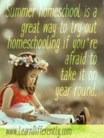 summer homeschool