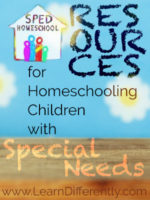 SPED Homeschool