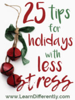 25 Tips for Holidays with Less Stress