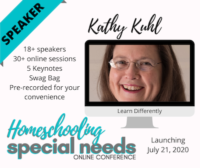 Kathy Kuhl speaking at Homeschool Special Needs Conference